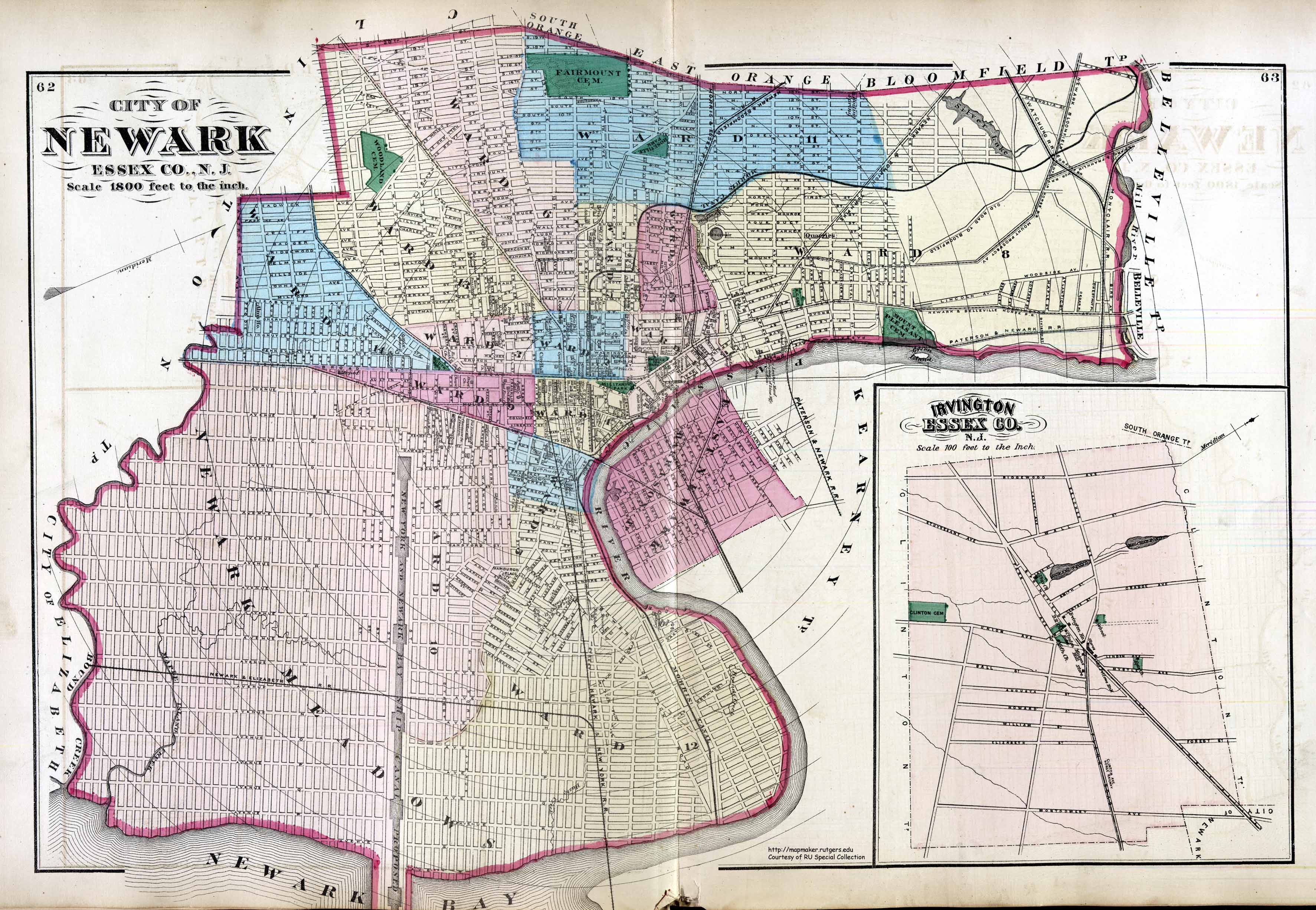 Maps In The Littman Library And Newark Public Library