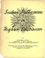 Student Publications in Higher Education, 1963