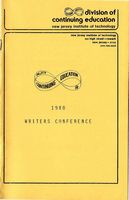 New Jersey Writers Conference program, 1980
