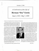 Celebration of Doc Estrin, Remarks