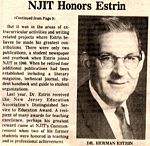 NJIT Honors Estrin
